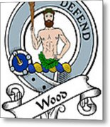 Wood Clan Badge Metal Print