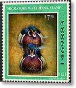 Wood Duck Stamp Metal Print