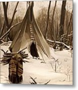Wood Gatherer Metal Print