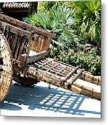 Wood Hand Cart II Metal Print