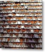 Wood Roof Shingles Metal Print