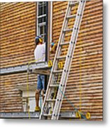 Wood Sanding The House Metal Print by Patricia Hofmeester