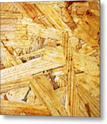 Wood Splinters Background Metal Print