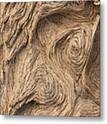 Wood Swirls Metal Print