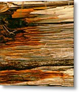Wooden Abstract Metal Print