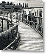 Wooden Boardwalk Metal Print