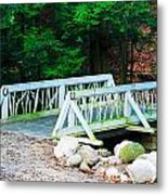 Wooden Bridge Metal Print
