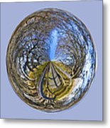Wooden Bridge Orb Metal Print