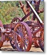 Wooden Cart Metal Print