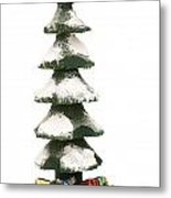 Wooden Christmas Tree With Gifts Metal Print