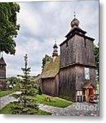 Wooden Church In Rabka Malopolska Poland Metal Print