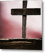 Wooden Cross Metal Print
