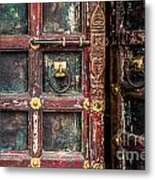 Wooden Door Metal Print by Catherine Arnas