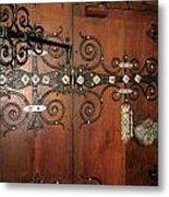 Wooden Doors Metal Print