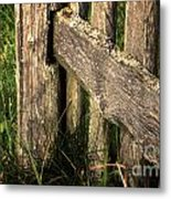 Wooden Fence Fragment Metal Print