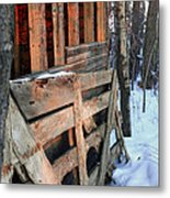 Wooden Fence Metal Print