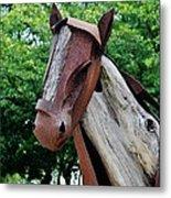 Wooden Horse20 Metal Print