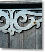 Wooden Lace In Blue Metal Print