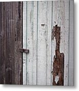 Wooden Latch Metal Print