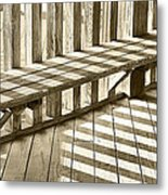 Wooden Lines - Semi Abstract Metal Print