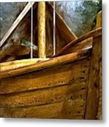 Wooden Mackinaw Boat Metal Print