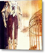 Wooden Man Metal Print
