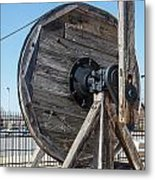 Wooden Pully Metal Print