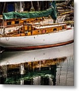 Wooden Sailboat Metal Print