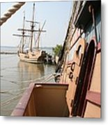 Wooden Sailingships Metal Print