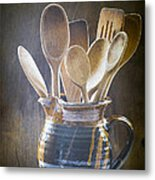 Wooden Spoons Metal Print by Jan Bickerton