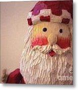 Wooden Toy Santa Metal Print