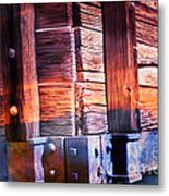 Wooden Wagon Side In Colors Metal Print