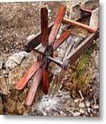 Wooden Water Wheel Metal Print