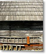 Wooden Window And Roof  Metal Print