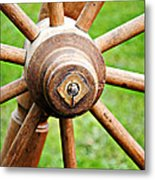 Woodenspoke Metal Print by Stephanie Grooms