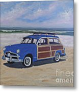 Woodie On Beach Metal Print