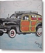 Woodie Station Wagon Metal Print