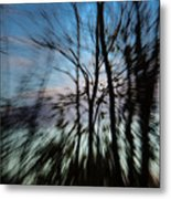 Woodland Flight Metal Print