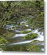 Woodland Stream - Monk's Dale Metal Print