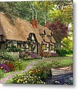 Woodland Walk Cottage Metal Print