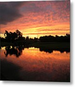 Woodlands Sunset Metal Print
