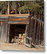 Woodshed On The Holzwarth Historic Site Metal Print