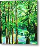 Woodside View Green Metal Print