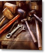 Woodworker - A Collection Of Hammers  Metal Print