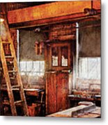 Woodworker - Old Workshop Metal Print