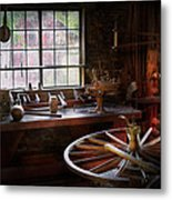 Woodworker - The Wheelwright Shop  Metal Print