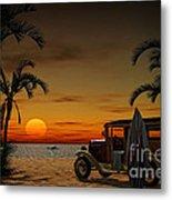 Woody Beach Metal Print