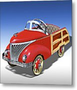 Woody Peddle Car Metal Print