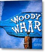 Woody's Wharf Sign Newport Beach Picture Metal Print