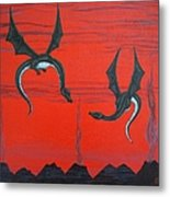 Wooing Dragons Metal Print